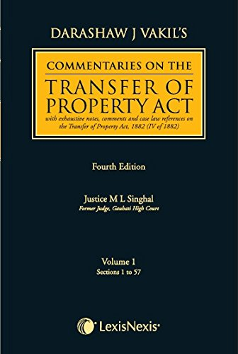 Commentaries on the transfer of property Act (Vol 1 and 2)